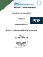 Unidad 4. Problemas Clasicos de La Geometria Analitica