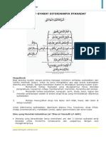 Syahadatain - Syarat diterima syahadat 1.doc