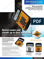 Water-protected and Dust-proof Calculators