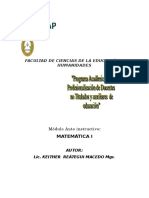 Caratula Matematica i