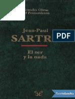 El Ser y La Nada - JeanPaul Sartre