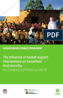 The Influence of Market Support Interventions on Household Food Security: An evidence synthesis protocol