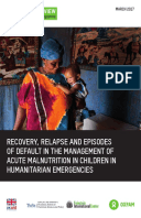 Recovery, Relapse, and Episodes of Default in the Management of Acute Malnutrition in Children in Humanitarian Emergencies: A systematic review