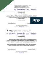 Certificados Participantes Palestras Avulsos