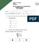 Evaluación Primera Unidad de Lenguaje y Comunicación 1°