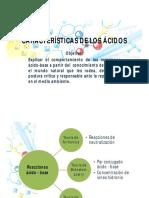 Características de Los Ácidos -1