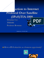 Introduction to Internet  Protocol Over Satellite (IPoS)TIA-1008