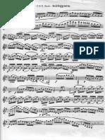 Bach - Solfeggietto for Clarinet Solo