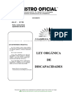 Ley Organica Discapacidades 2012