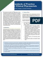 Clinical Pharmaciststandardsofpractice