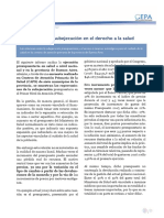FSS - Los efectos de la subejecución en el derecho a la salud