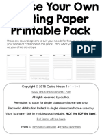 Writing Paper Printable Pack
