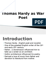Thomas Hardy as War Poet