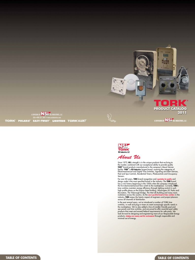 Tork Catalog Lighting Components