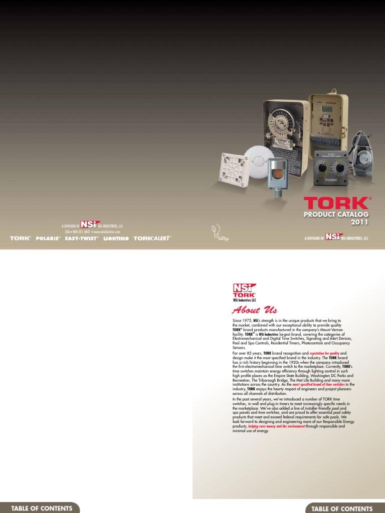 tork catalog lighting components