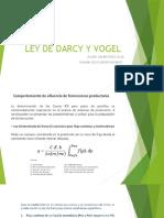 Ley de Darcy y Vogel