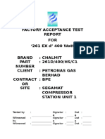 Example of factory acceptance test