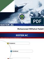 Sistem AC (Kompresor, Kondenser, Dryer)