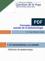 1. Concepto y Campo de Estudio de La Epistemología