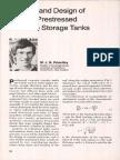 Analysis and Design of Circular Prestressed Concrete Storage Tanks