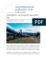 Gasoducto Un Proyecto Que Dará Luz - 15.11.12