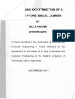Design and Construction of a Mobile Phone Signal Jammer