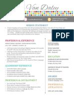 van daley - leadership resume