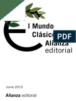Catálogo Lit. Clásica Ed. Alianza