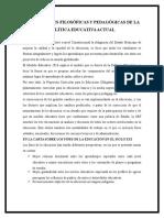 Concepciones Filosóficas y Pedagógicas de La Política Educativa Actual