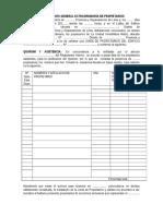 Eleccion de Directiva de Junta de Propietarios _modelo de Acta