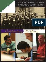 DTS PhDHandbook 2014 2016
