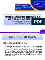 [6] Ordering Agreement Guidelines [CAO]