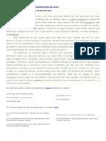 Atividade Sobre Leitura e Interpretação de Texto Espanhol