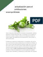 Factor de Actualización Para El Pago de Contribuciones Extemporáneas