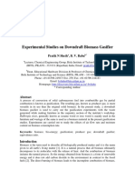 Experimental Studies on Downdraft Biomass Gasifier