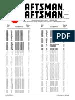 Lista de Caja Craftsman