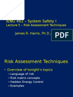 IENG 461 20160920 Risk Assessment