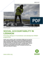 Social Accountability in Lebanon