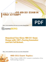 Get Real Exam Question And Answers For Cisco 400-351