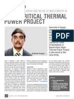 UF and RO for Recovery and Reuse of Wastewater in Thermal Power Project...by Bhaskar Sengupta, Development Consultants (DC)