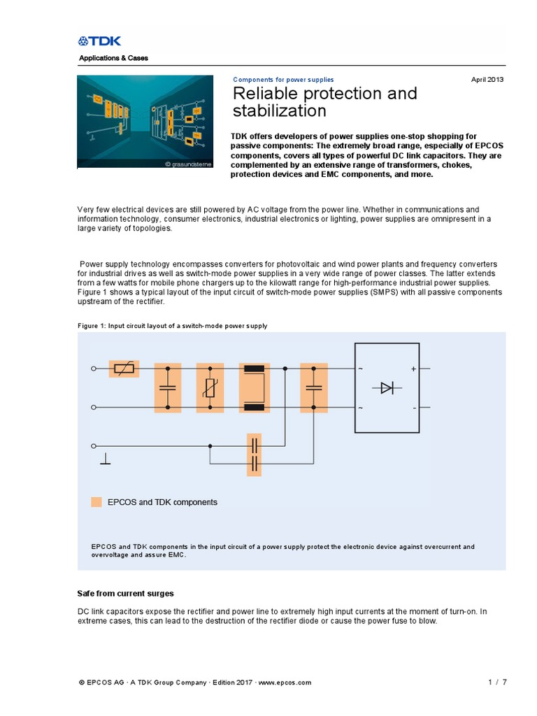 Power Suppliespdf Capacitor Supply Figure 2 The Components Layout Of This Circuit