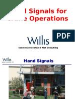 Hand Signals for Crane Operations
