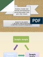 Analisis Model Dan Metode Pembelajaran