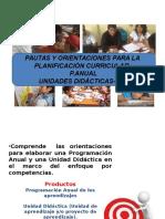 Pautas y Orientaciones Planificaciòn Curricular