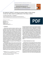 An Empirical Relation to Calculate the Proper Burden in Blast Design of Open Pit Mines Based on Modification of the Konya Relation