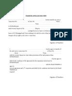 Transfer Application Form Tsspcdl
