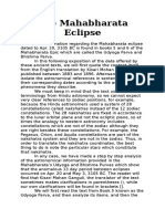The Mahabharata Eclipse