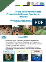 Banzi Bioslurry and Organic Farming Snv