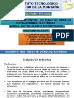1.3 Rendimiento de Mano de Obra en Instalaciones Electricas.