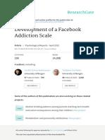 Development of a Facebook Addiction Scale1